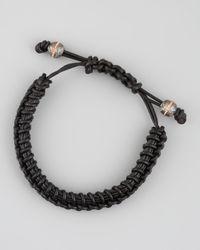 Stephen Webster | Black Woven Leather Bracelet for Men | Lyst