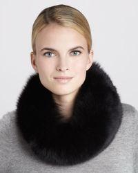 Tasha Tarno Black Fox Fur Collar