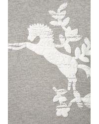 TOPSHOP - Gray Puff Print Horse Sweat - Lyst