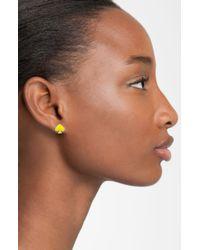 kate spade new york | Yellow 'Spade to Spade' Mini Stud Earrings | Lyst