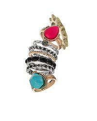TOPSHOP - Multicolor Spirit Bumper Ring Pack - Lyst