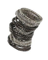 TOPSHOP - Metallic Mega Mesh Bracelet Multi Pack - Lyst