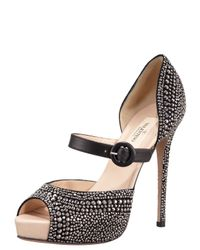 Valentino | Black Microstud Mary Jane | Lyst