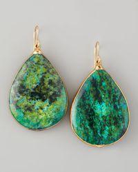 Devon Leigh | Green Teardrop Chrysocolla Earrings | Lyst