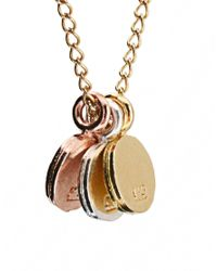 Dogeared - Metallic 3 Wishes Circle Necklace - Lyst