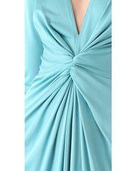 Issa | Gray Long Sleeve V Neck Dress | Lyst