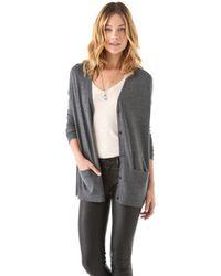 J Brand | Gray Ava Cardigan Sweater | Lyst