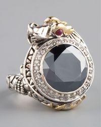 John Hardy | Metallic Hematite Dragon Ring Small | Lyst