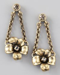 Marc By Marc Jacobs | Metallic Flower Garland Earrings | Lyst