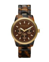 Michael Kors | Brown Tortoise Jet Set Watch | Lyst