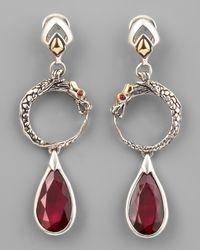 John Hardy | Metallic African Ruby Naga Drop Earrings | Lyst