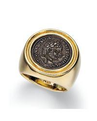 Lauren by Ralph Lauren | Metallic 14k Gold Plated Roman Coin Ring | Lyst