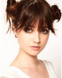 Maria Francesca Pepe - Metallic Pair Studded Hoop Earrings - Lyst