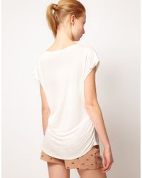 Oasis | White Owl Front Tshirt | Lyst