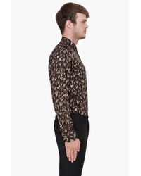 Paul Smith   Black Shark Teeth Print Shirt for Men   Lyst
