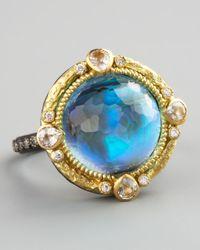 Armenta | Blue Midnight Round Ring | Lyst