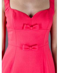 Valentino | Pink Bow Dress | Lyst