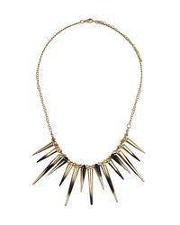 TOPSHOP - Black Dip Dye Spike Necklace - Lyst