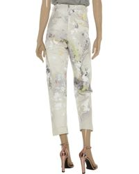 Alexander Wang   Beige Printed Midr-Rise Straight-Leg Jeans   Lyst
