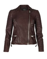 AllSaints | Red Oxblood Biker Jacket | Lyst