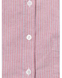 Boy by Band of Outsiders - Red Oxford Stripe Shirt - Lyst