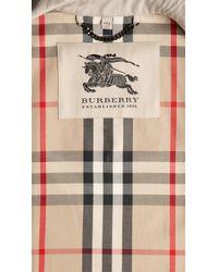 Burberry | Natural Short Gabardine Trench Coat | Lyst