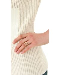 Campbell | Metallic Delicate Double Ring | Lyst