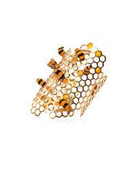 Delfina Delettrez - Metallic Gold To Bee Or Not Too Bee Cuff - Lyst