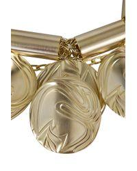 Elie Saab - Metallic Gold Chunky Choker - Lyst