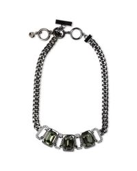 Givenchy | Studded Choker In Black Braided Leather | Lyst