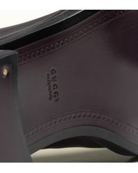 Gucci | Brown Victoria Equestrian Flat Leather Riding Boot | Lyst