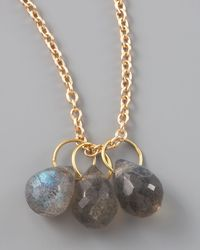 Heather Moore - Metallic Labradorite Teardrop Charm - Lyst