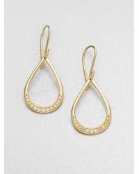 Ippolita | Metallic 18k Gold Diamond Teardrop Earrings | Lyst