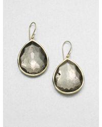 Ippolita | Metallic 18k Gold Pyrite Doublet Teardrop Earrings | Lyst