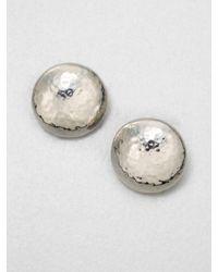Ippolita - Metallic Glamazon Sterling Silver Button Earrings - Lyst