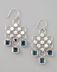 John Hardy | Green Square-Drop Dot Earrings  | Lyst
