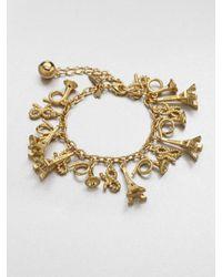 kate spade new york - Metallic Parisian Charm Bracelet - Lyst