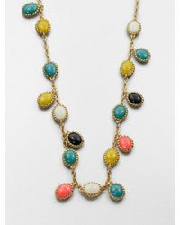 kate spade new york | Multicolor Long Cabochon Necklace | Lyst