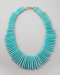 Kenneth Jay Lane - Blue Spike Necklace - Lyst