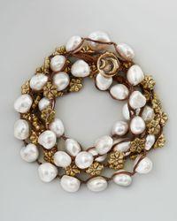 Love Heals | White Pearl Wrap Bracelet  | Lyst