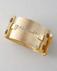 McQ | Metallic Large Razorblade Bracelet | Lyst
