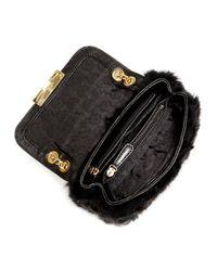 MICHAEL Michael Kors - Black Flurry Small Shoulder Flap Bag - Lyst
