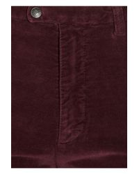 Notify - Purple High-waisted Flared Stretch-velvet Jeans - Lyst