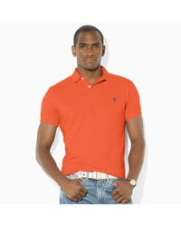Polo Ralph Lauren - Orange Slim-fit Mesh Polo for Men - Lyst