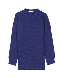 See By Chloé | Blue Contrast Knit Pullover | Lyst