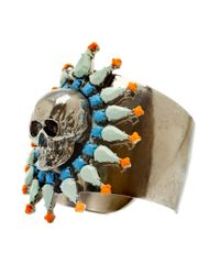 Tom Binns - Metallic Skull Coloured Cuff - Lyst