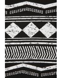 TOPSHOP | Black Aztec Strappy Flippy Tunic | Lyst
