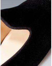 Zara   Black Basic Velvet Slipper   Lyst
