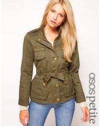 ASOS Natural Belted Wax Jacket