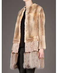Giambattista Valli   Brown Fur Coat   Lyst